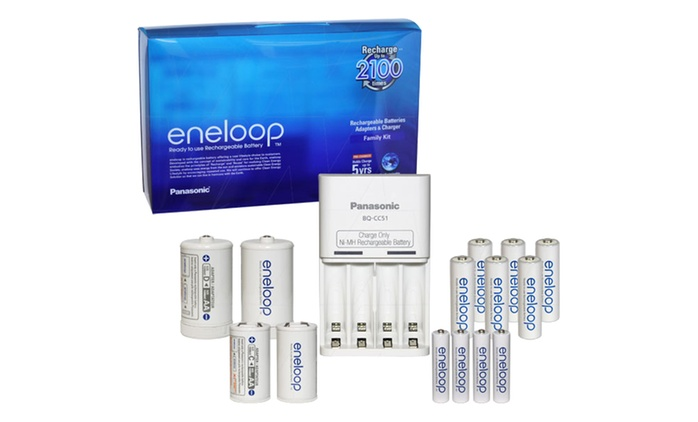 Panasonic Eneloop Batteries - Eight-Pack ($24) or Family Pack with Charger ($39) (Don't Pay up to ($81)