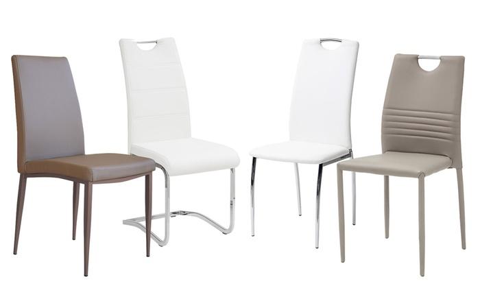 4 o 6 sedie da soggiorno groupon for Sedie da soggiorno in pelle