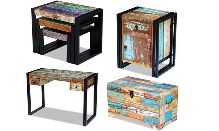 jusqu 39 48 meubles en bois de r cup ration massif groupon. Black Bedroom Furniture Sets. Home Design Ideas