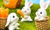 Seven-Piece Mini Resin Bunny Micro Landscape Home Decoration Set