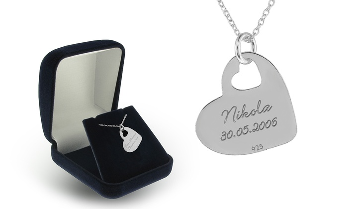 SilvexCraft Design: Engraved Ithinky Necklace in Sterling Silver from SilvexCraft Design