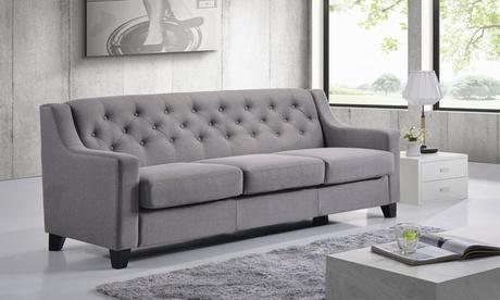 Arcadia Fabric Upholstered Tufted 3-seater Sofa 7a028d36-1ffd-11e7-ac80-00259069d7cc