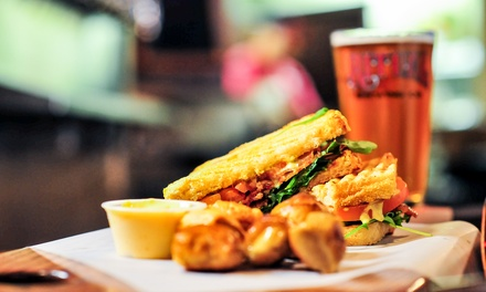 Gastropub Lunch with Entrees, Sides, and Dessert for Two or Four at Brewcakes (Up to 41% Off)
