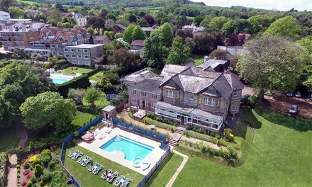Isle of Wight: 1-3 Nights for Two with Breakfast, Dinner, Leisure and Ferry Transfers at Luccombe Manor Country House