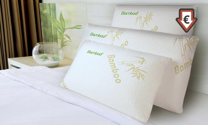 1, 2 ou 4 oreillers à mémoire de forme Bamboo Sampur, dimensions au choix dès 17,90€ (jusqu'à 83% de réduction)