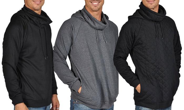 ARSNL Men's Hooded Turtle-Neck Sweatshirt