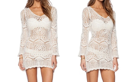 Ivory Lace Crochet Beach Cover Up for €14.99
