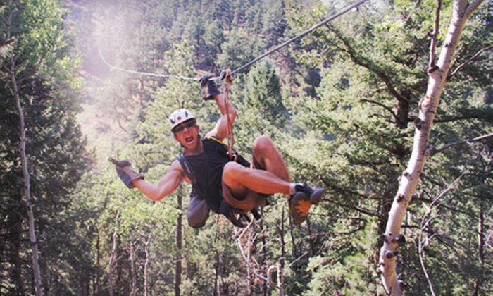 Denver Adventures - Aspen Park: Six-Zipline Adventure Tour for One or Two from Denver Adventures (Up to Half Off)