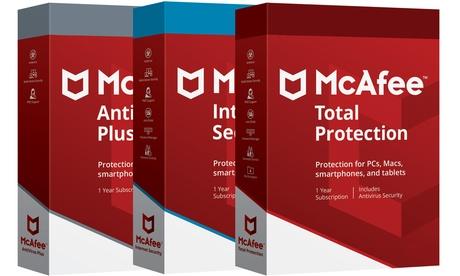 1 anno di McAfee Antivirus, Internet Security o Total Protection fino a 10 dispositivi