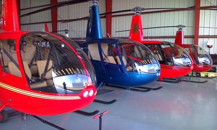 """Alpha Helicopters - Multiple Locations: $129 for Two-Person, 20-Minute Helicopter Tour, Two 8""""x10"""" Aerial Photos, and One T-Shirt from Alpha Helicopters ($264.95 Value)"""