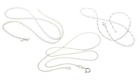 Italian Sterling Silver Chains from $13.99–$21.99