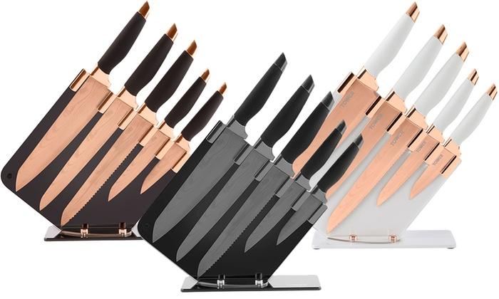 tower damascus knife set groupon goods. Black Bedroom Furniture Sets. Home Design Ideas