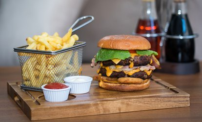 image for Burger, Chips and Pint of Beer for One or Two at The Hideaway Bar (Up to 62% Off)