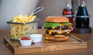 Thehideaway Bar: Burger, Chips and Pint of Beer for One or Two at The Hideaway Bar (Up to 62% Off)