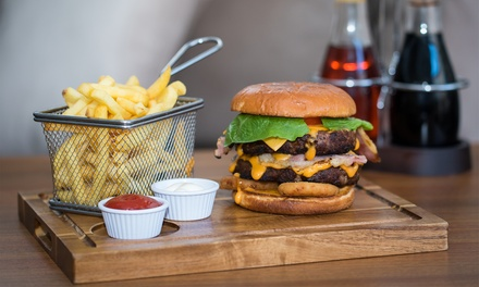 Burger, Chips and Pint of Beer for One or Two at The Hideaway Bar (Up to 62% Off)