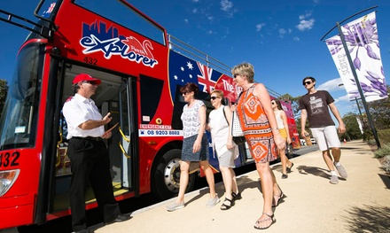 24Hour HopOn, HopOff Sightseeing Bus: Child Aged 514 $5 or Adult $19 with Perth Explorer Up to $40 Value*