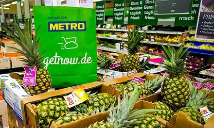 Wertgutschein über 50 € oder 100 € anrechenbar auf das gesamte Sortiment des Online-Supermarkts getnow.de