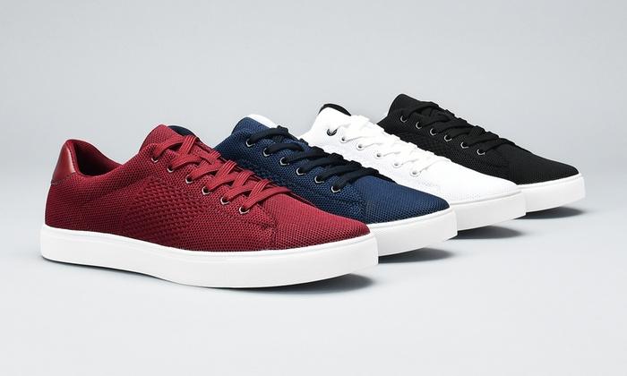 JXSN Men's Knit Sneakers