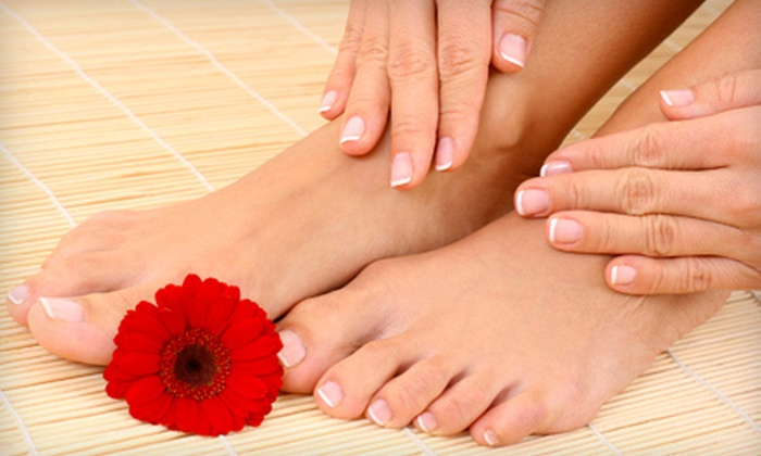 Millennium Hair Studio and Spa - Gates: $35 for Mani-Pedi and Bottle of OPI Nail Polish at Millennium Hair Studio and Spa (Up to $77 Value)