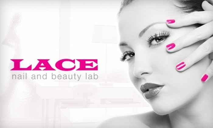 Lace Nail and Beauty Lab - Multiple Locations: $30 for a Signature Mani-Pedi or Mini Facial at Lace Nail and Beauty Lab (Up to $65 Value)