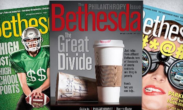 """Bethesda Magazine"" - Bethesda: One- or Two-Year Subscription to ""Bethesda Magazine"" (Up to 55% Off)"