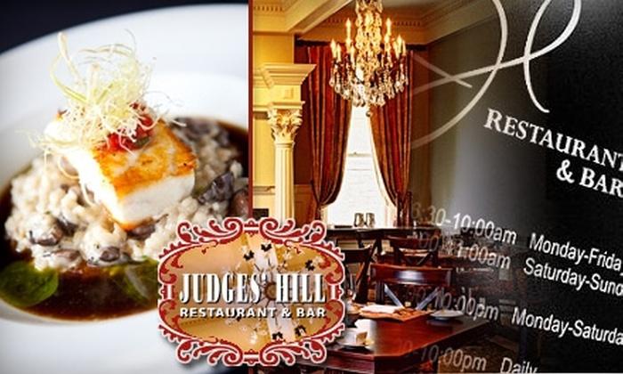 Judges' Hill Restaurant - West University: $25 for $50 Worth of Upscale American Cuisine at Judges' Hill Restaurant & Bar