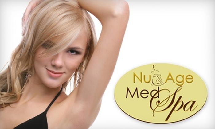 Nu Age Med Spa - Riverwoods: $150 for Six Laser Hair Treatments at Nu Age Med Spa in Riverwoods