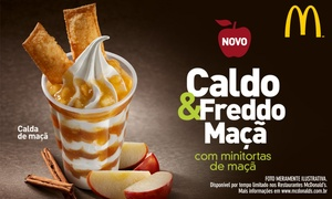McDonald's: McDonald's: Caldo&Freddo - resgate o seu groupon e na compra de 1 Caldo&Freddo você ganha outro nas lojas participantes
