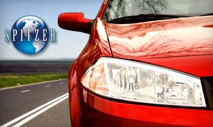 Spitzer Autoworld - Multiple Locations: $30 for Five Car Washes ($60 Value) or $46 for a Car Wash, Oil Change, and 27-Point Inspection ($92 Value) at Spitzer Autoworld