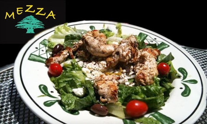 Mezza Restaurant & Lounge - Albright: $10 for $20 Worth of Lebanese Fare and Drinks at Mezza Restaurant & Lounge