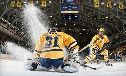 University of Michigan Men's Hockey vs. University of Niagara on Tue., Oct. 4 at 7:35PM: Endzone Seating - University of Michigan Men's Hockey in Ann Arbor