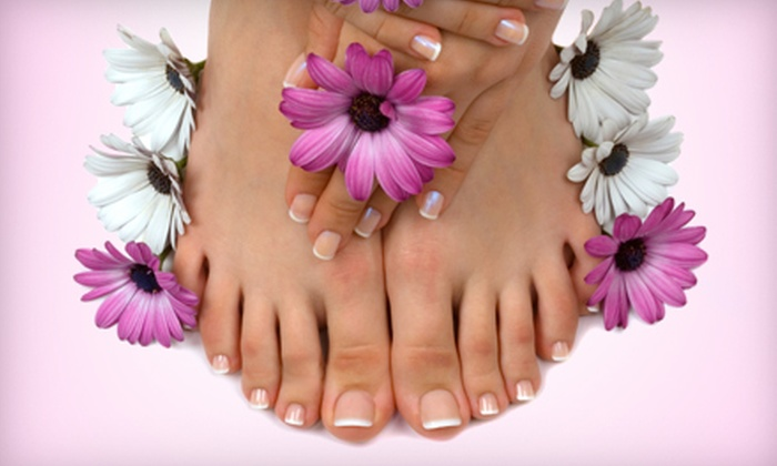 Fancie Nail Beauty Spa - Spanish Harlem,Uptown: One or Three Mani-Pedis at Fancie Nail Beauty Spa (Up to 67% Off)