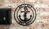 57% Off Personalized Laser-Cut Steel Family Name Anchor Sign