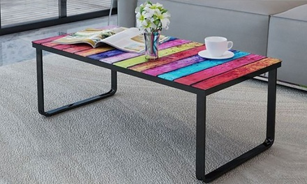 Tavolino in vetro con stampe groupon goods for Groupon shopping arredamento