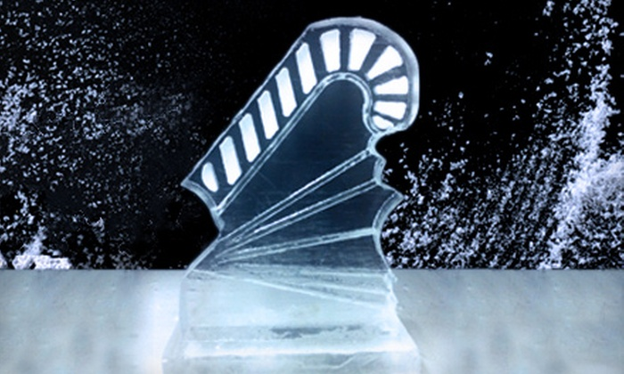 Awesome Ice Factory - NorthEast Charlotte: $87 for a Candy-Cane Ice Luge from Awesome Ice Factory ($175 Value)