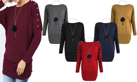 Pearl Arms Necklace Jumper