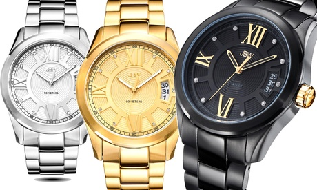 Reloj JBW con diamantes genuinos para hombre