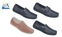 נעלי מוקסין אורתופדיות מעור