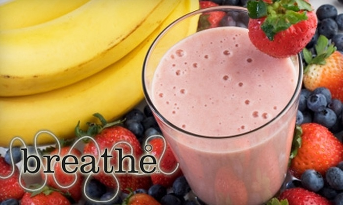 Breathe - Pittsford: $5 for $10 Worth of Organic Fare and Drinks at Breathe