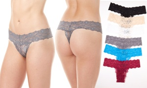 Sociology Women's Lace Thong Set (6-Pack) (Size XL)