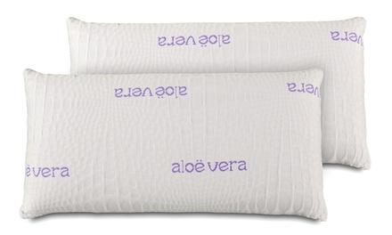 Pack de 2 o 4 almohadas viscoelásticas con aloe vera