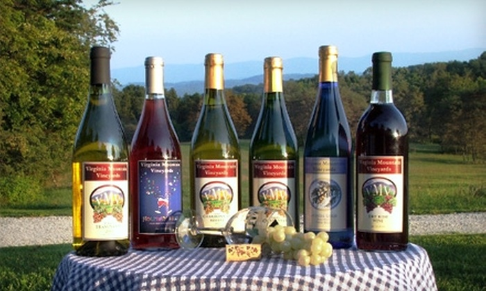 Virginia Mountain Vineyards - Fincastle: $15 for a Wine and Cheese Tasting for Two at Virginia Mountain Vineyards ($30 Value)