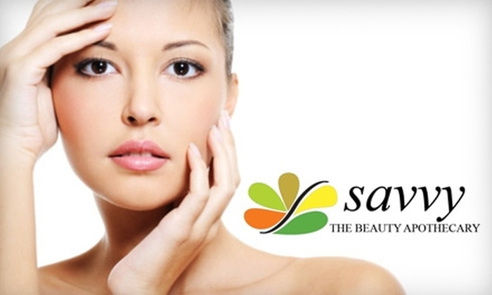 Savvy The Beauty Apothecary - Beverly Hills: $40 for Customized Facial and Facial Wax at Savvy the Beauty Apothecary in Beverly Hills ($105 Value)