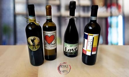 Bottiglia di vino personalizzata a 9,99euro