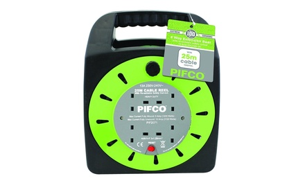 Pifco 25m FourWay Cable Extension Reel