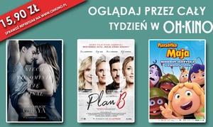 Oh Kino: Bilet na dowolny seans 2D za 15,90 zł ważny przez cały tydzień w Oh Kino - Mysłowice