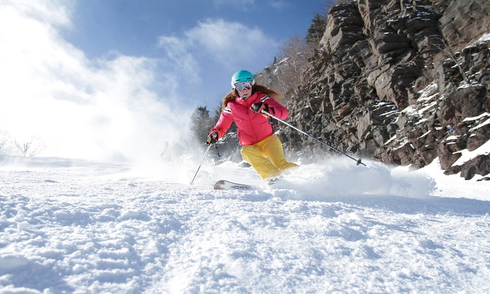 Catskills Ski Resort Excursion - Sourced Adventures: Ski or Snowboard Day at Hunter Mountain Including Rental Package and Transportation (Up to 23% Off)