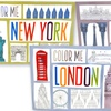 City-Themed Adult Coloring Books (3-Pack)