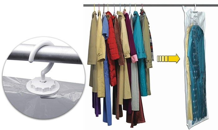 4 Hanging Vacuum Storage Bags Groupon Goods