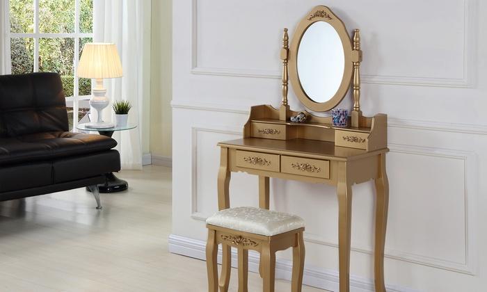 Uitgelezene Luxe make-up dressoir met kruk | Groupon Goods XA-86